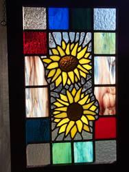 2 sunflower piece finished.. by glasslinger