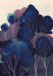 Blue Woodland by ullakko