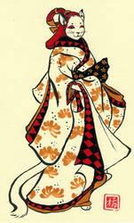 Feline Onigata Commission by DrunkenSaytr
