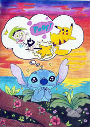 The Sweet Dreams of Stitch by Maddy-Lunna
