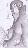 Itachi sketch 2 by brawleri