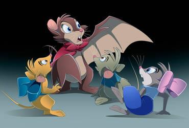 NIMH Halloween II: Brisby's Bat Transformation by BrisbyBraveheart