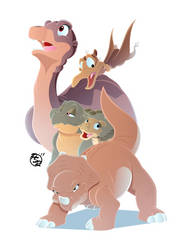The Land Before Time 30th - Main Five Variant by BrisbyBraveheart