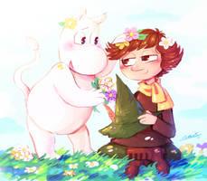 Moomin And Snufkin by TigerToony