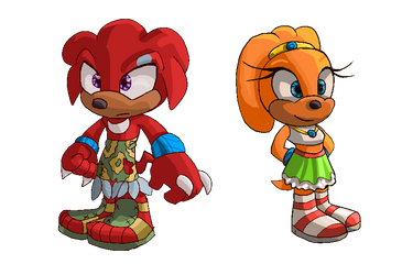 Roleswap AU: Tikal and Knuckles by Metal-Echidna