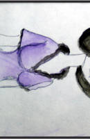 Enid in watercolor by Xphronvistle