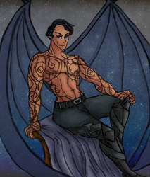ACOTAR: Rhysand Pin-up by RubberDuck4LUNCH