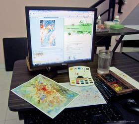 My desk by cantieuhy