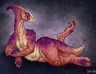 Parasaurolophus Gal by v-e-r-a