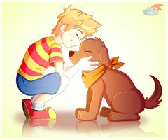 A Boy and His Dog by LucarioOcarina