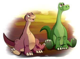 Dino Pals by LucarioOcarina