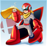 ProtoMan - Smash Ultimate by LucarioOcarina