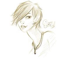 Ezzy Portrait Sketchy by PheonixKarr