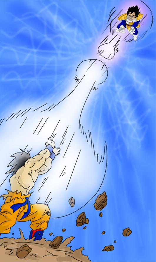 Kamehameha Vs Galick Gun By Dbzbabe On Deviantart