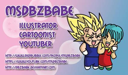 MsDBZbabe business card by Dbzbabe