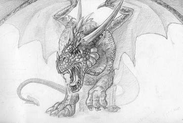 Grafic Dragon by ArtistCat