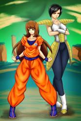 Satsuki and Liane by zylladys