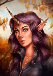 Horn Elf by BlackAssassiN999