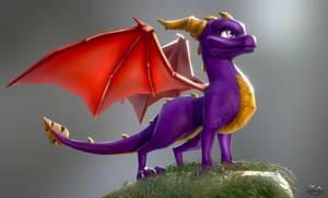Spyro the dragon by Albazcythe