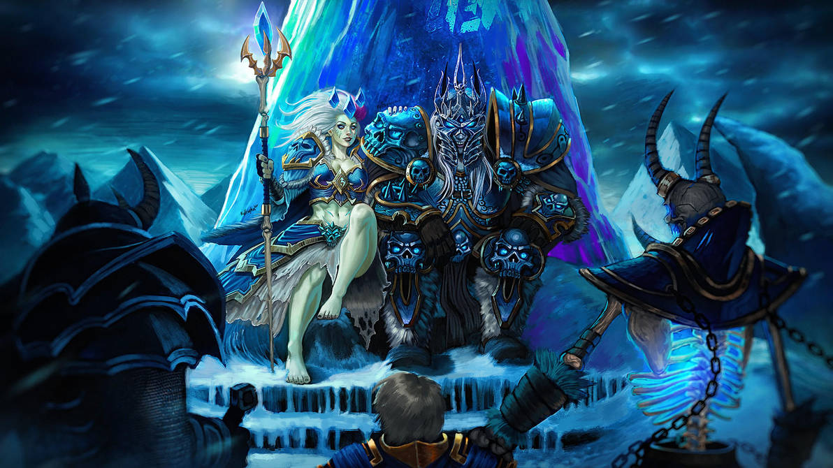 The Lich King And Lich Queen By Kylekayhosdraws Wow