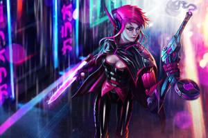 Ashi, supersoldier of Pantheon by KyleKayhosDraws