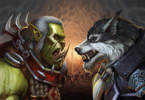 Saurfang vs Greymane! by KyleKayhosDraws