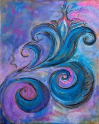 Violet Lily by phoebethomasson