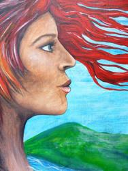 Spirit of Nature acrylic unfinished detail by phoebethomasson