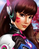 D.va Overwatch digital drawing /chibichan/ by BarbieSpitzmuller