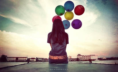 alone with baloon by aNdikapatRya