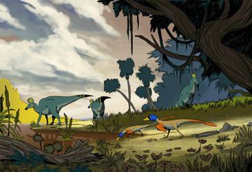 Just a little mesozoic day... by AntoninJury