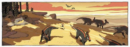 The Gorgonops's kingdom... by AntoninJury