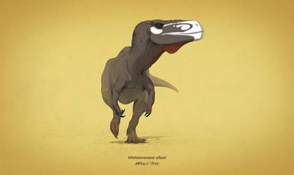 Dinovember #1 - Wiehenvenator albati by AntoninJury