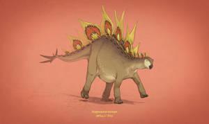 Dinovember #15 - Stegosaurus stenops by AntoninJury