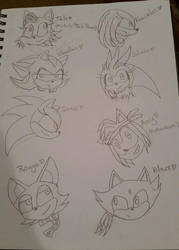 Some Sonic Character Genderswapped by MysticalBats