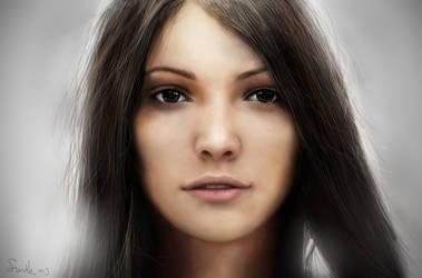 unknown girl by VitalikAlkarev