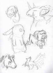 Pokemanz sketchdump by Lilbuddy2