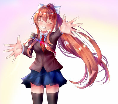 Monika Yandere Sweet Smile by shigeru-chan