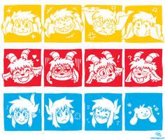 SD Trio Expressions Grid by raizy