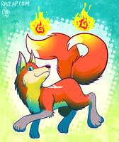 Kitsune Fire by raizy