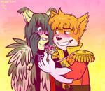 Svanhildr and Joseph by raizy