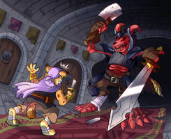 [Commission] Dungeon Encounter by raizy
