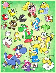2018-11-15 Mario Character Doodles by raizy