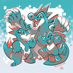 Totodile Family by raizy