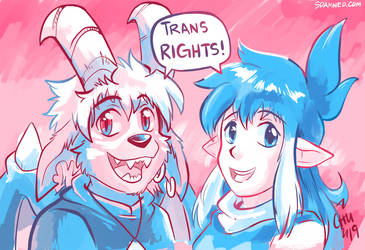 Buwaro and Kieri Support in Trans Rights by raizy