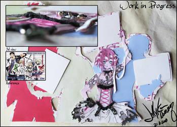 WIP tsubasa fanart by Jellyka