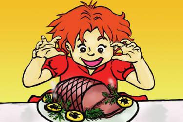 Thanksgiving Ham by Jellybeam