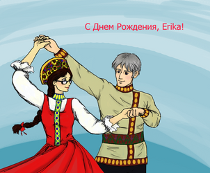 Erika and Russia Dancing by Jellybeam