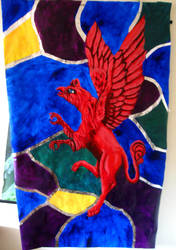 Red Gryphon Scroll by Shadsie