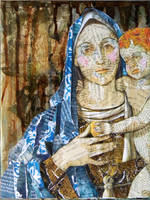 Fragmented Madonna by hogret